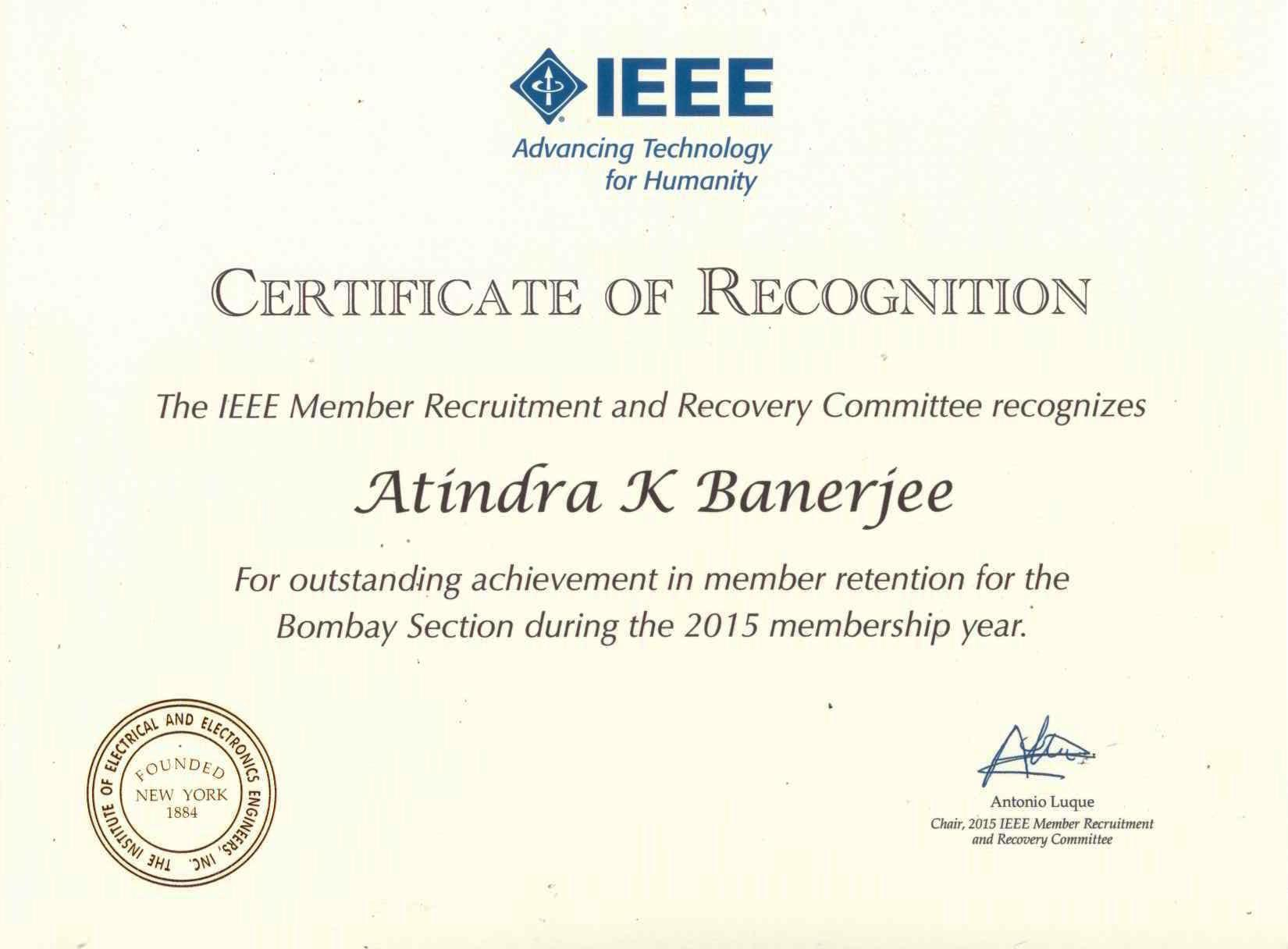 volunteer recognition awards ieee bombay section